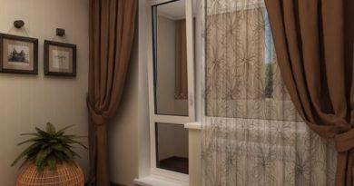 шторы для гостиной с балконной дверью