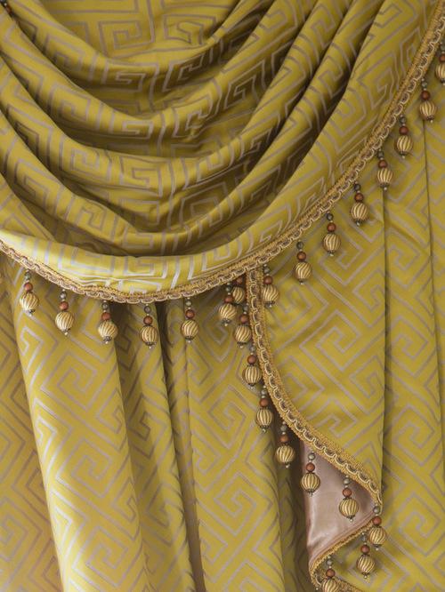 ламбрекены и сваги в дизайне штор в стиле модерн