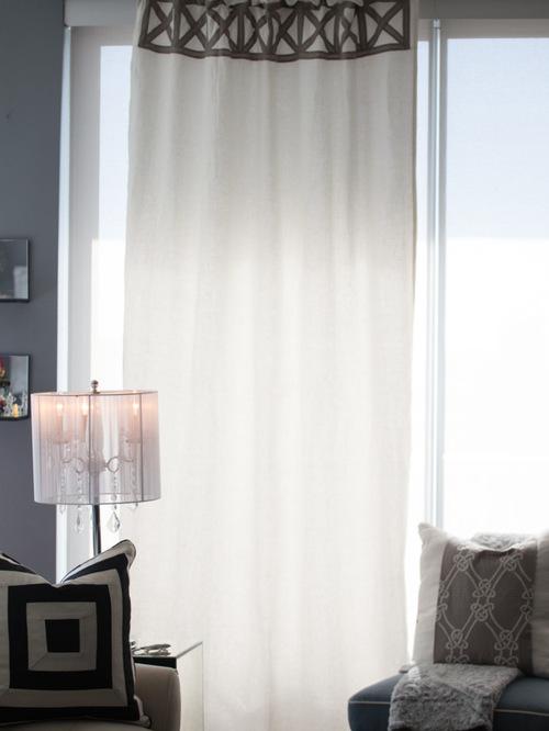 шторы модерн для высоких потолков