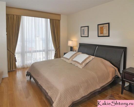 тюль и портьеры в спальне