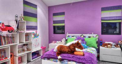 фото римских штор в детской комнате