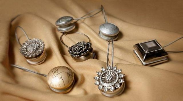 декоративные магнитные держатели для штор