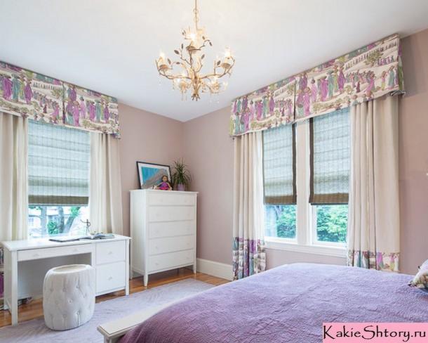 римские шторы для детской девочки