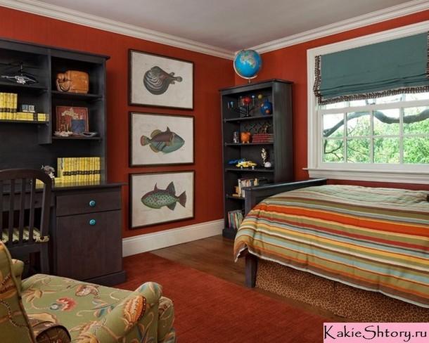 римские шторы в комнате мальчика