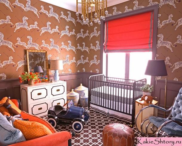римские шторы в детской комнате мальчика