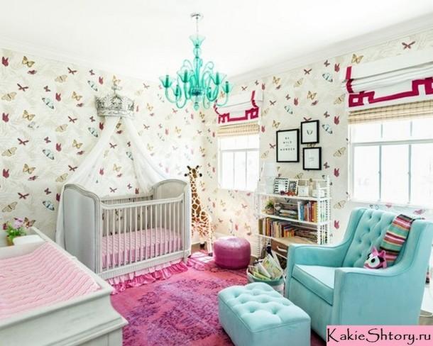римские шторы в детской комнате новорожденного