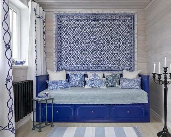 сочетание мебели с цветом штор