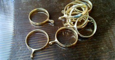 кольца для штор и карнизов
