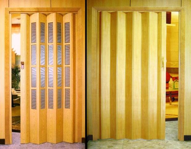 двери-гармошка для зонирования пространства