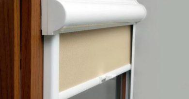 кассетные рулонные шторы на окна ПВХ