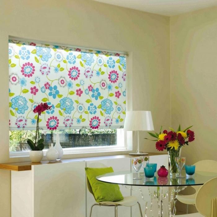 рулонные шторы с фотопечатью в кухне