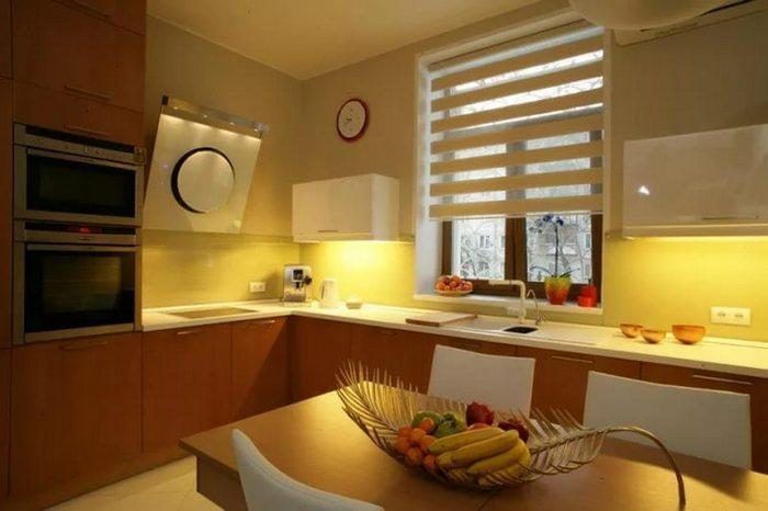 рлонные шторы день-ночь на кухне