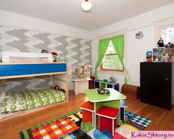 тюль салатового цвета для детской комнаты
