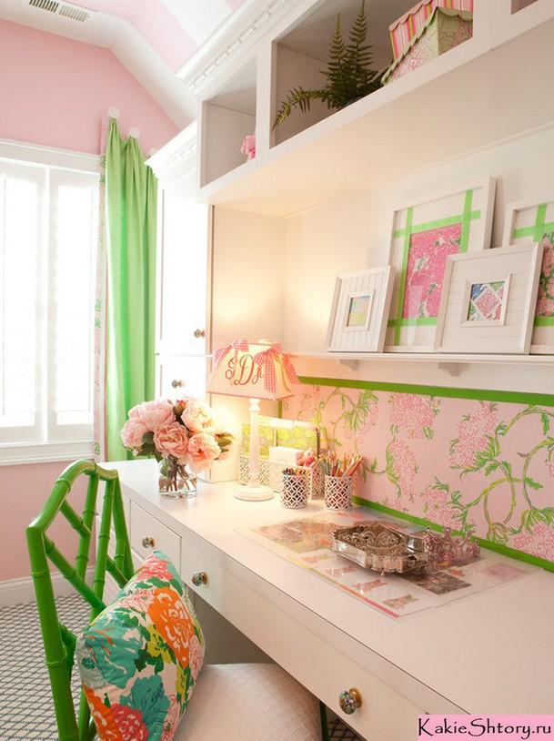салатовые шторы в детской