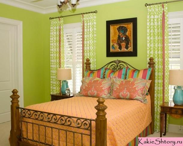 шторы салатовго цвета под зеленые обои