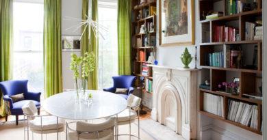шторы салатового цвета в гостиной