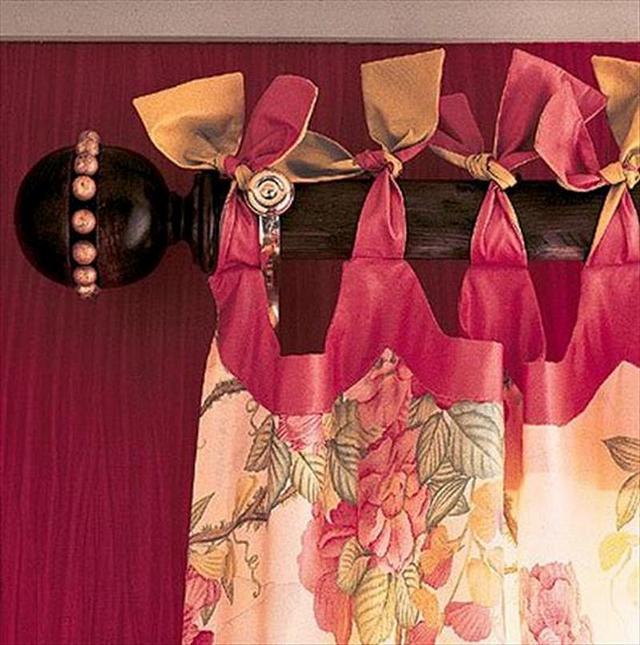 шторы на завязках бантиком