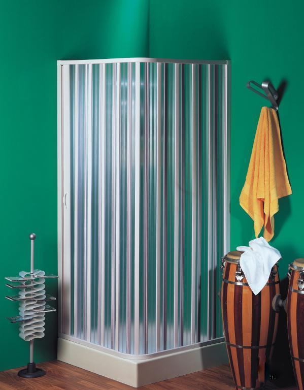 пластиковая штора-гармошкой для душа