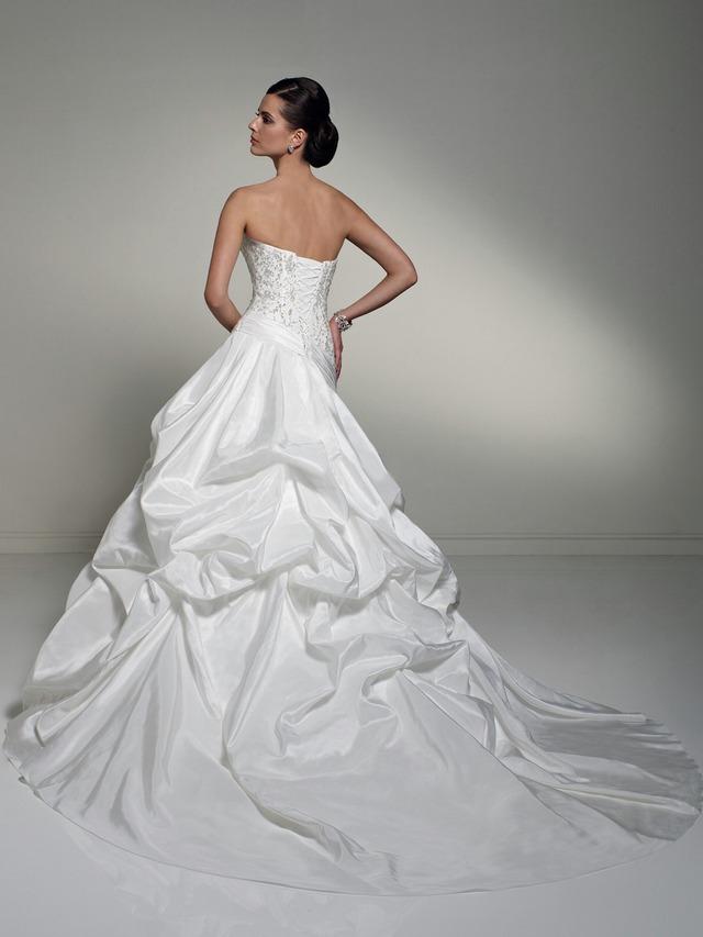 платье невесты из ткани тафта