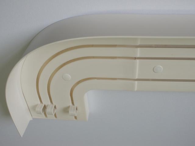 потолочная трехрядная шина для штор