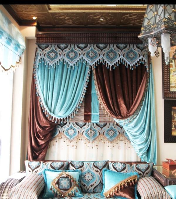 расцветка штор в восточном стиле