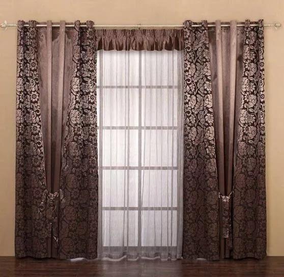двойные шторы - сразу 2 портьеры на окне
