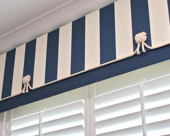 оформление штор в морской стилистике