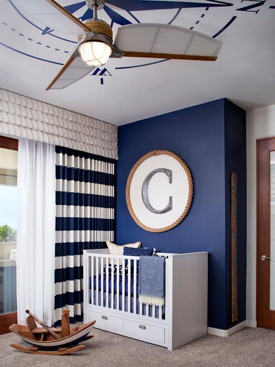 шторы в морском стиле для детской мальчика