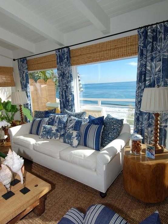 дизайн гостиной в морской тематике