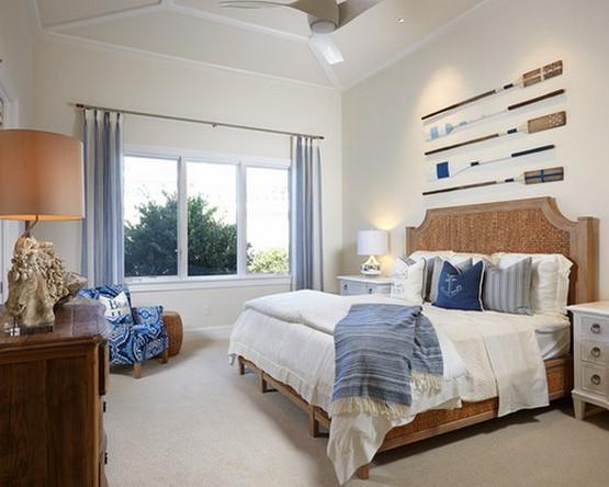 декор спальни в морском стиле