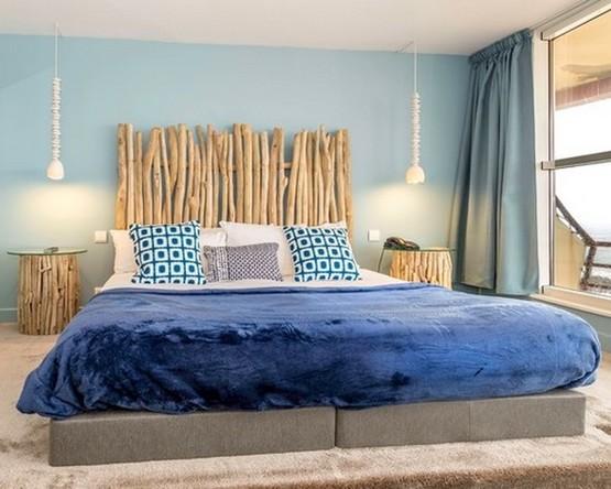 дизайн и декор спальни в морском стиле