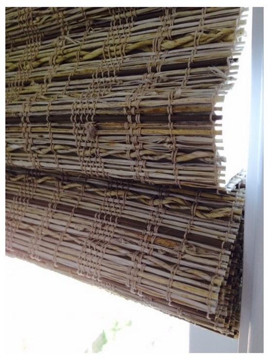 бамбуковые шторы в морском стиле