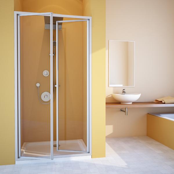 распашные дверца для ванной и душа