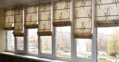 римские шторы для балкона или лоджии