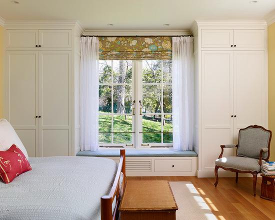 римскме шторы в стиле кантри и тюль