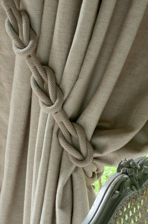 деокративный шнур для льняных занавесок