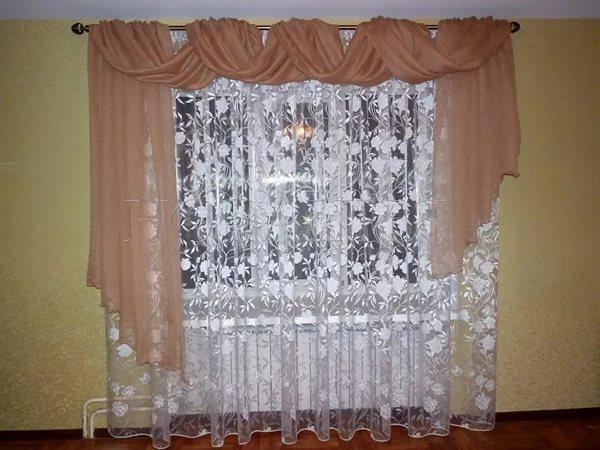 перекинутые шторы без швейной машинки