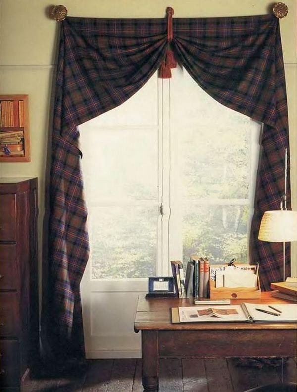 делаем шторы без шитья