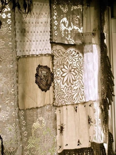шторы в стиле пэчворк из салфеток