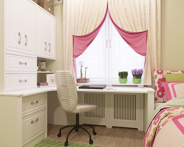 двухсторонние шторы в детской комнате