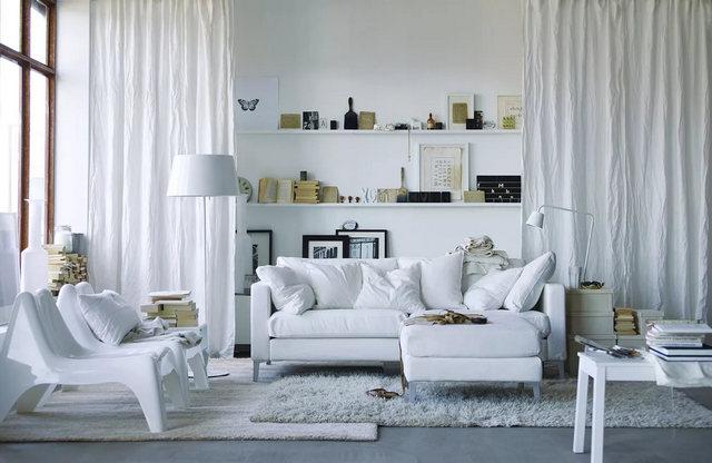 скандинавский стиль в дизайне штор