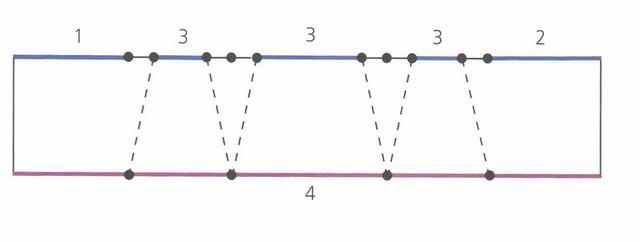 выкройка равностороннего свага с несколькими провисаниями