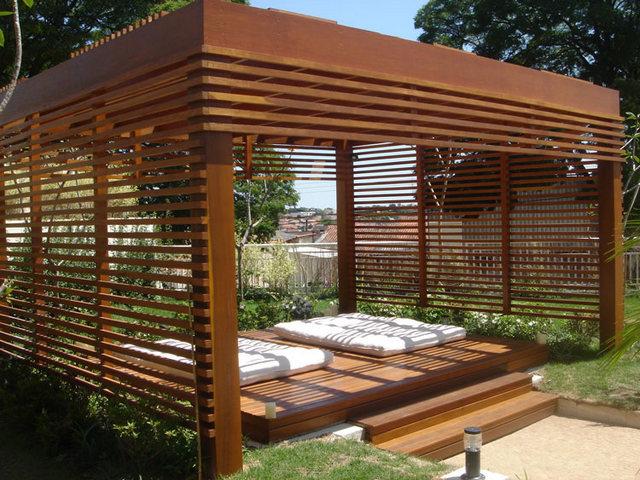 конструкция деревянной перголы