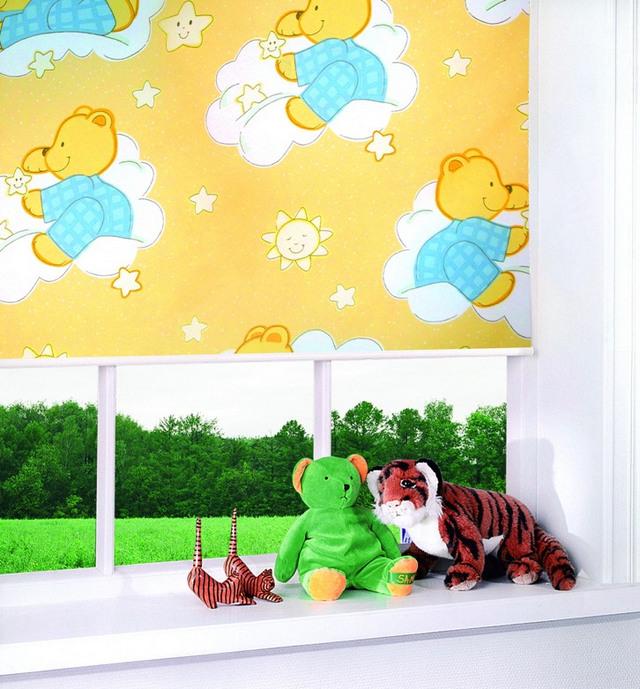 рулонные шторы с электроприоводом в детскую