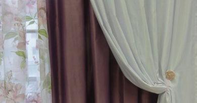 шторы из двух слоев