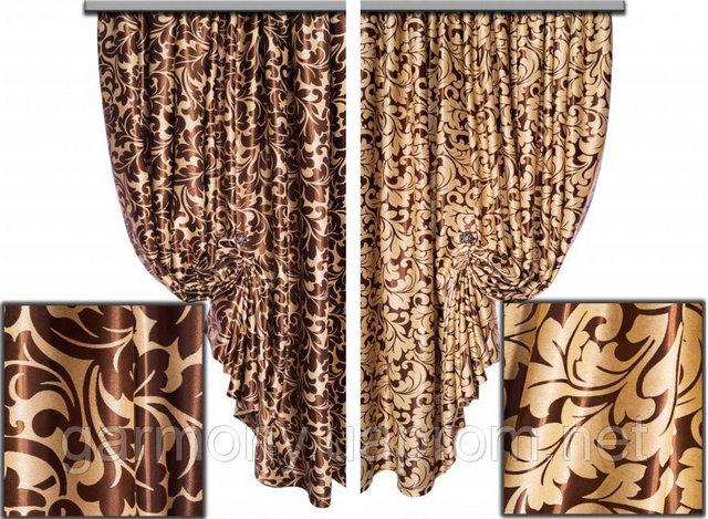 двухслойная ткань и двухстронние шторы из нее