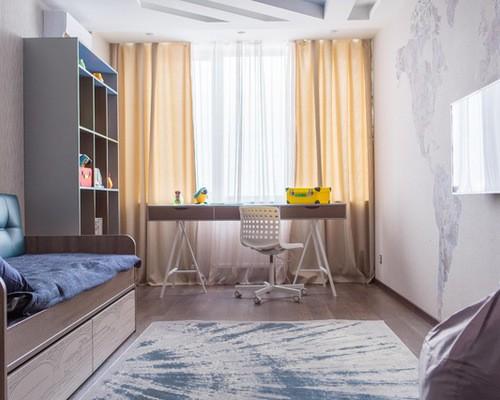 тюль и шторы в комнате подростка