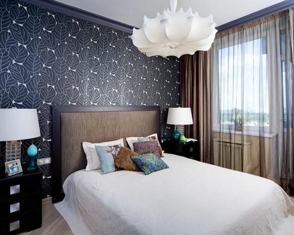 тюль и ночные портьеры в спальне
