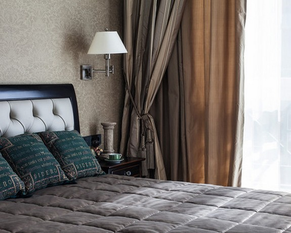ночные шторы с декоративным шнуром