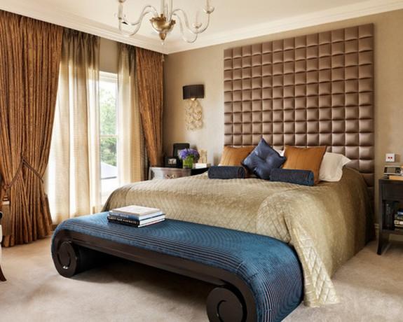 ночные шторы в спальной
